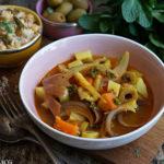 Marokkansk vegetargryte med spicy couscous