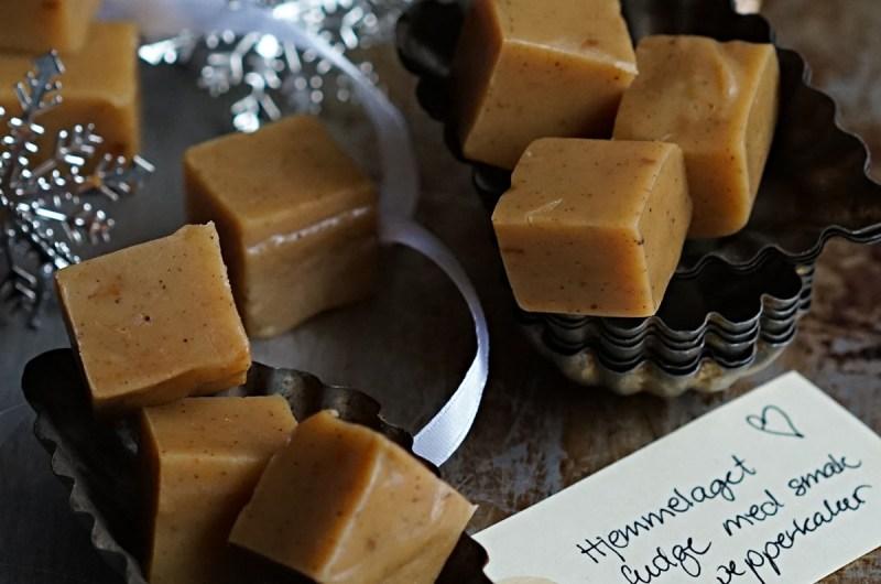 hjemmelaget fudge med smak av pepperkaker