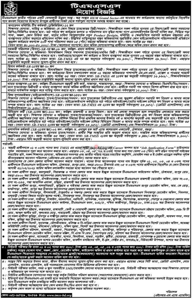 TMSS NGO New Job Circular 2021