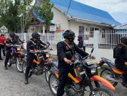 Antisipasi Aksi Teror, Brimob Bone Patroli Skala Besar