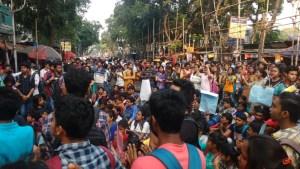 students of CU Calcutta University CBCS Kolkata JNU