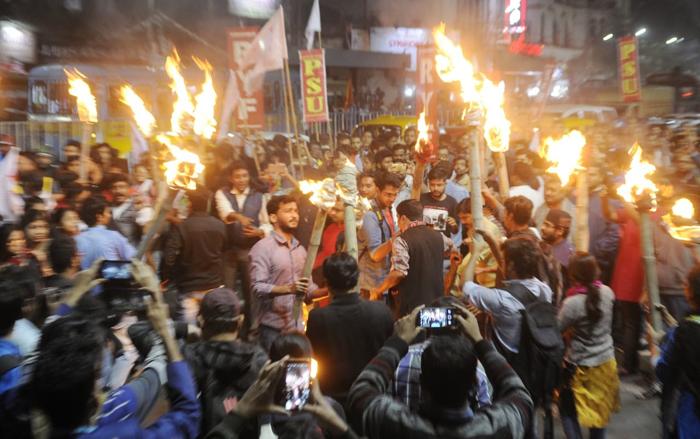 Students against NRC CAA CAB SFI Left Kolkata West Bengal