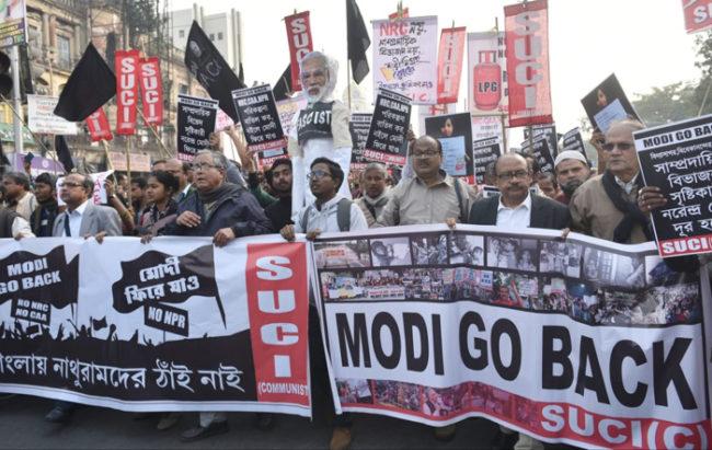 modi go back kolkata caa nrc protests Mamata Banerjee West Bengal