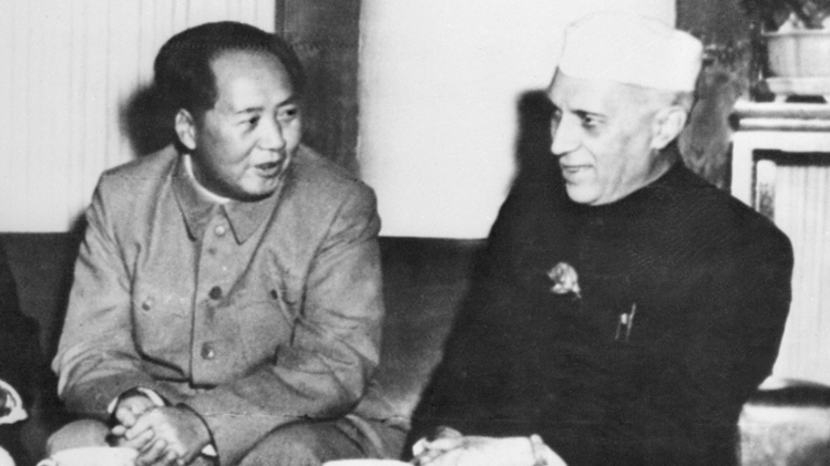Mao and Nehru china-india conflict jawaharlal nehru mao zedong border Himalayas