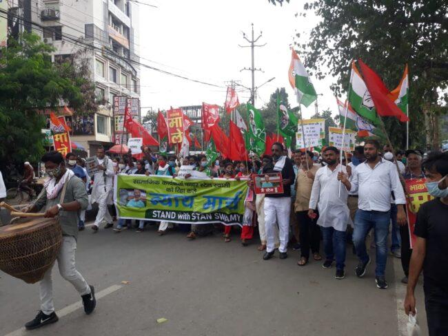 stan swamy activist ranchi kolkata protests