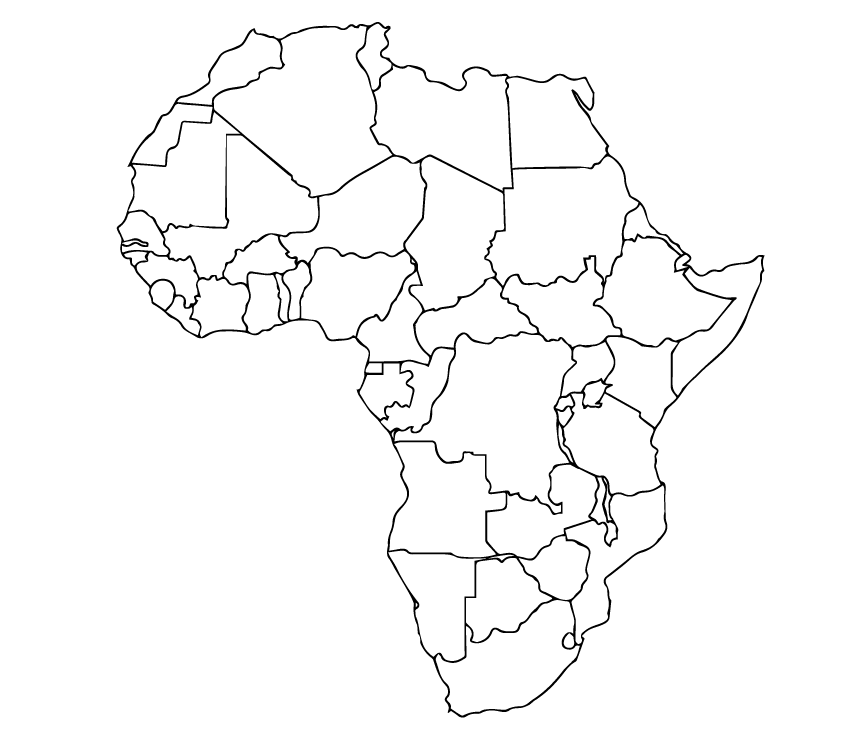 Africa-black-outline - Eneza Education