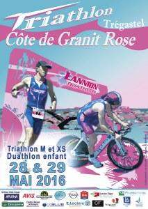Affiche Triathlon Côte de Granit Rose 2016