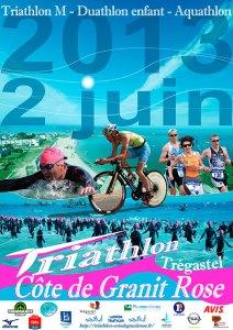 Affiche Triathlon Côte de Granit Rose 2013