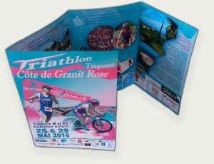 """Dépliant """"Triathlon Côte de Granit Rose"""""""