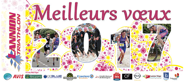 carte de voeux Lannion Triathlon  2017