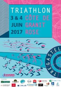 affiche triathlon Côte de Granit Rose 2017
