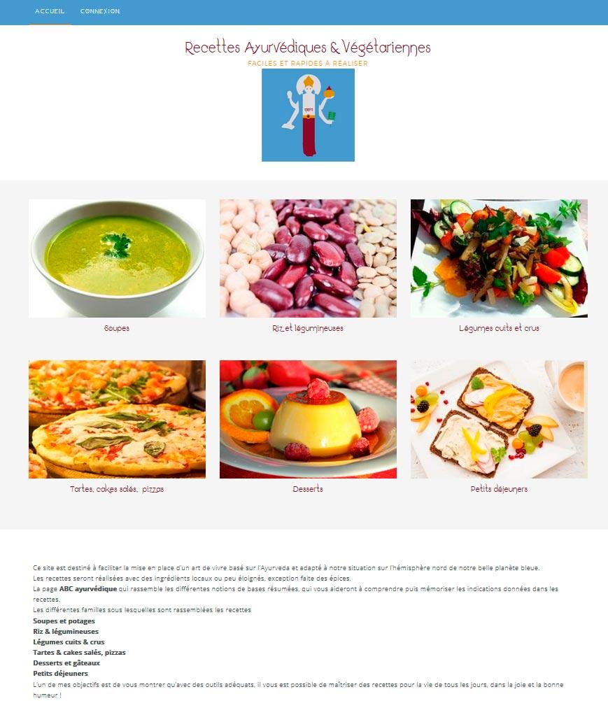 page accueil ayurveda enez web paper