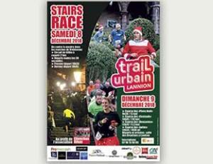 Une affiche pour le trail urbain de Lannion 2018