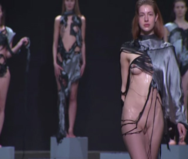 Naked On Catwalk Video Specially Designed Clothes Dissolve On Contact With Water