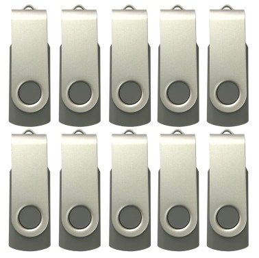 enfain flash drives 10pack-gray
