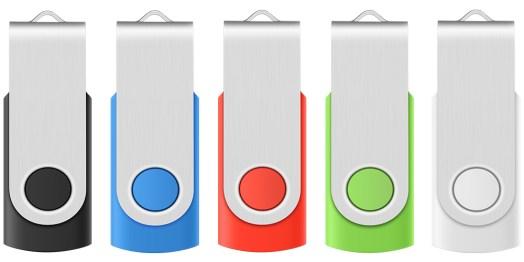 USB Flash Drive 5 Pack