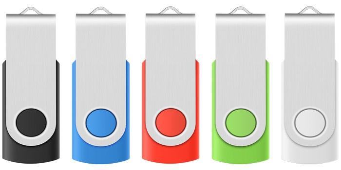 USB Flash Drive 5 Pack