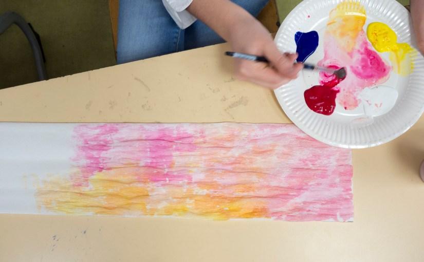 Vidéos de la fabrication d'une fleur par la classe de CM2 de l'École bilingue de Haute Savoie