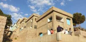visite d'un chantier de nouvelles maisons