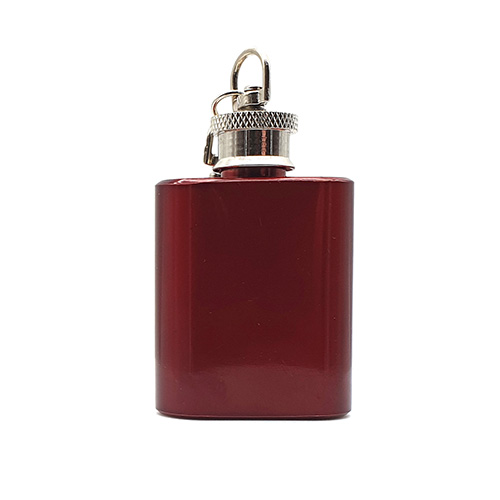 1oz Red Keyring Flask