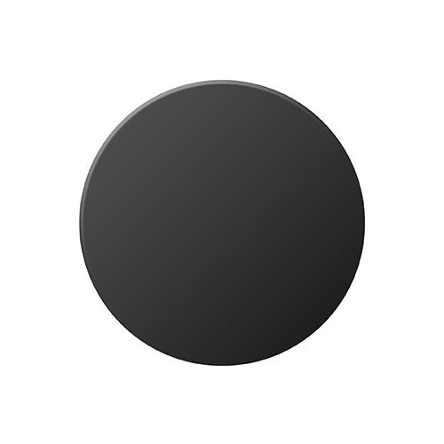 Round 32mm Black Aluminium Plaque