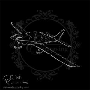 Cessna Columbia Lancair Aircraft Engraving Artwork
