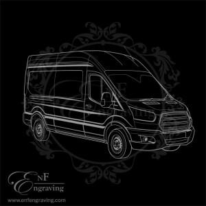 Transit Van Engraving Artwork