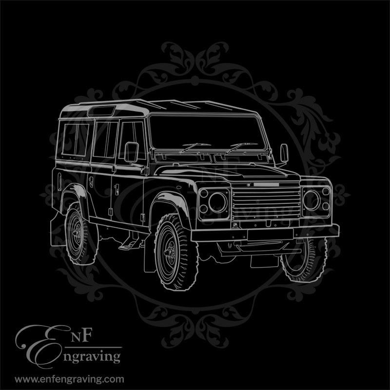 Off-road Jeep Engraving Artwork