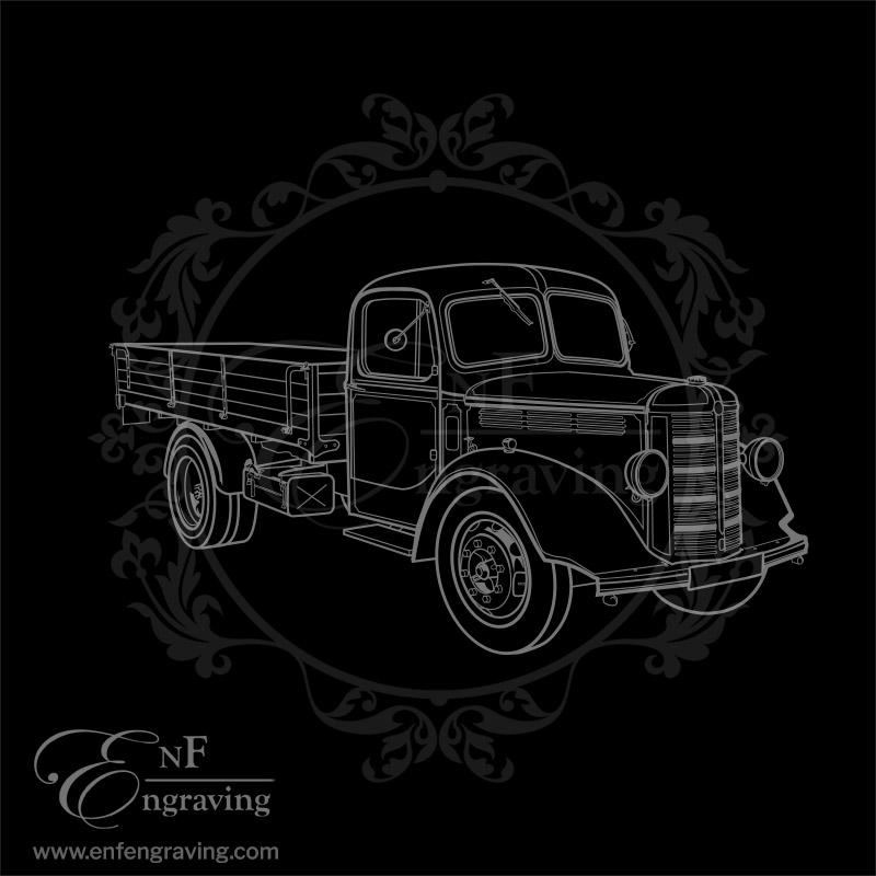 Vintage Bedford Truck Artwork