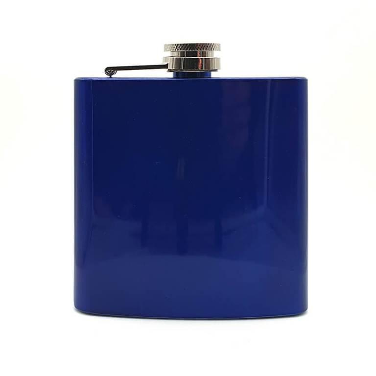 Blue 6oz Hip Flask