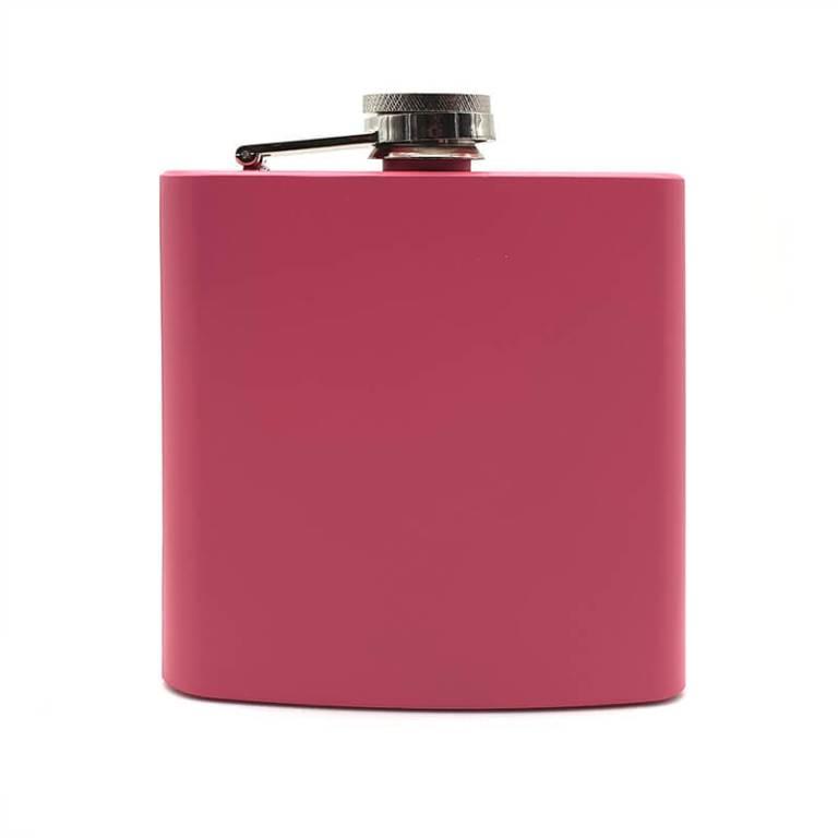 6oz Pink Hip Flask
