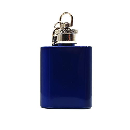 1oz Blue Keyring Hip Flask