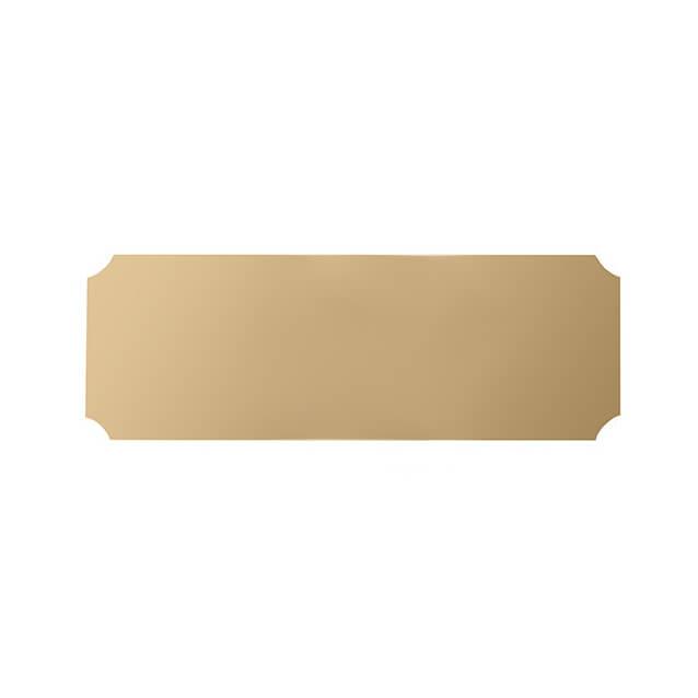 Scalloped Corner Aluminium Plate 89 x 32mm