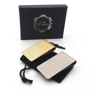 Brushed Money Clip With EnF Engraving Gift Box