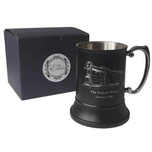 Persnalised Black tankard with EnF Engraving Gift Box