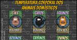 Temperatura Corporal dos Animais Domésticos