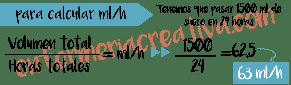 CALCULAR ML/H