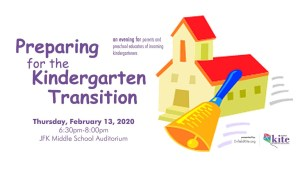 Preparing for the Kindergarten Transition @ JFK Middle School