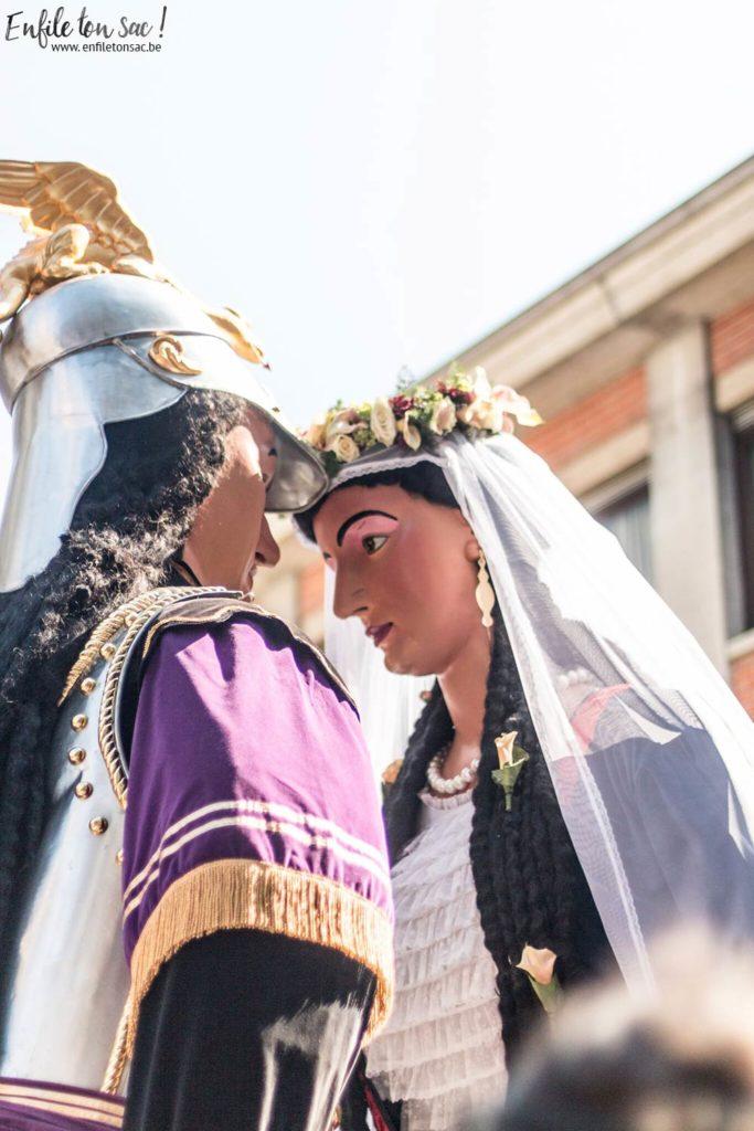 ducasse d ath goliath 683x1024 Le mariage de Mr et Mme Goliath    Ducasse dAth ( 2015 )