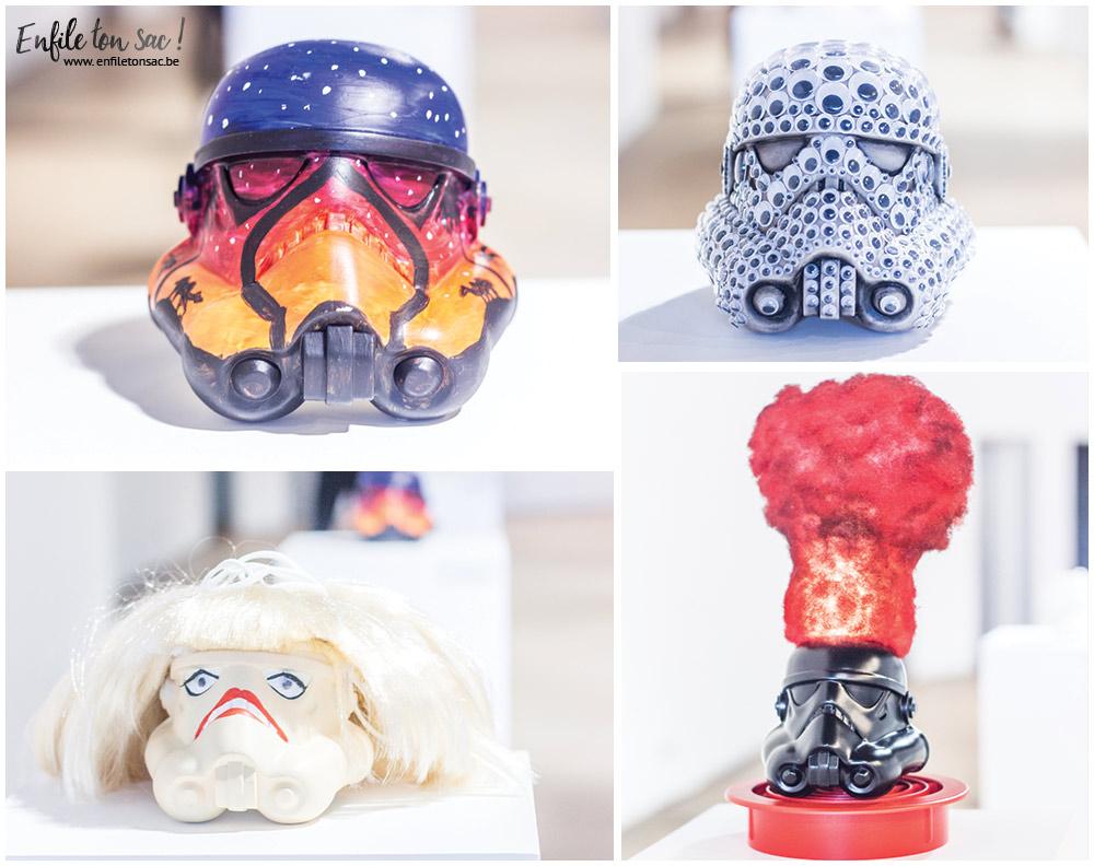 stormtrooper customise Star Wars Legion Belgique, quand les artistes belges réinterprètent le casque de Stormtrooper