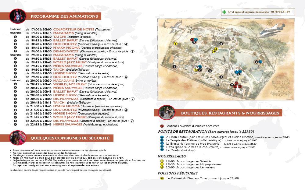 Pairi daiza estivales 2juillet programme 2 Les estivales de Pairi Daiza,  le parc ouvert jusquà 23h   dates, tarifs,info et programmes.