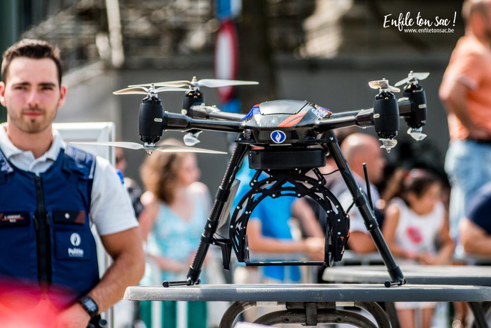 police drone 21 juillet Fête nationale 2016, un 21 juillet à Bruxelles