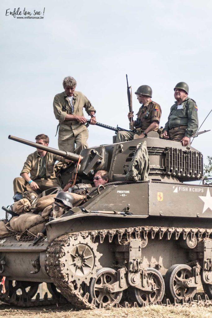 tank in town chars reconstitution 683x1024 Tanks in town, le grand rassemblement de blindés et véhicules de collections de la 2eme guerre mondiale.