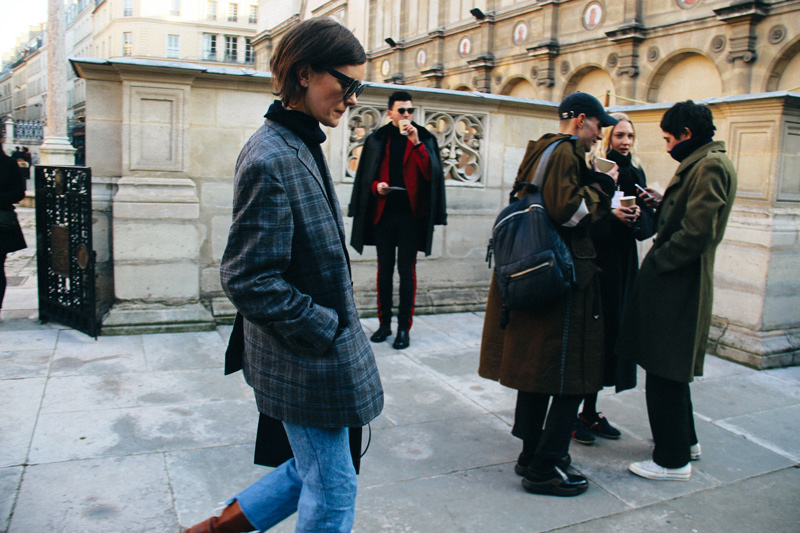 Before the Paul Smith show - Favorite street looks from Paris Men's Fashion Week ( January, 2017 )