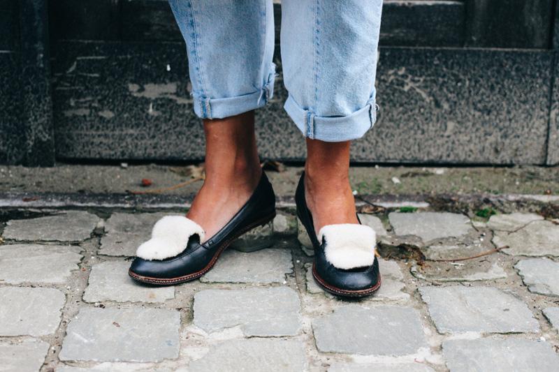 LOOK XII: Marieke wearing Fendi loafers