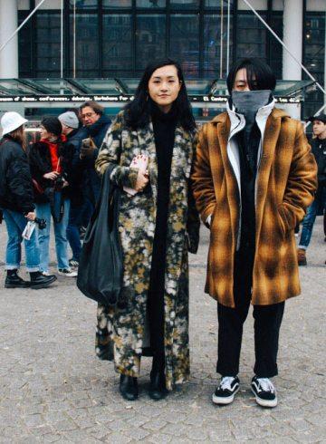 LOOK XX: Winterized couple goals at Centre Pompidou   Paris street style Fall Winter 2017