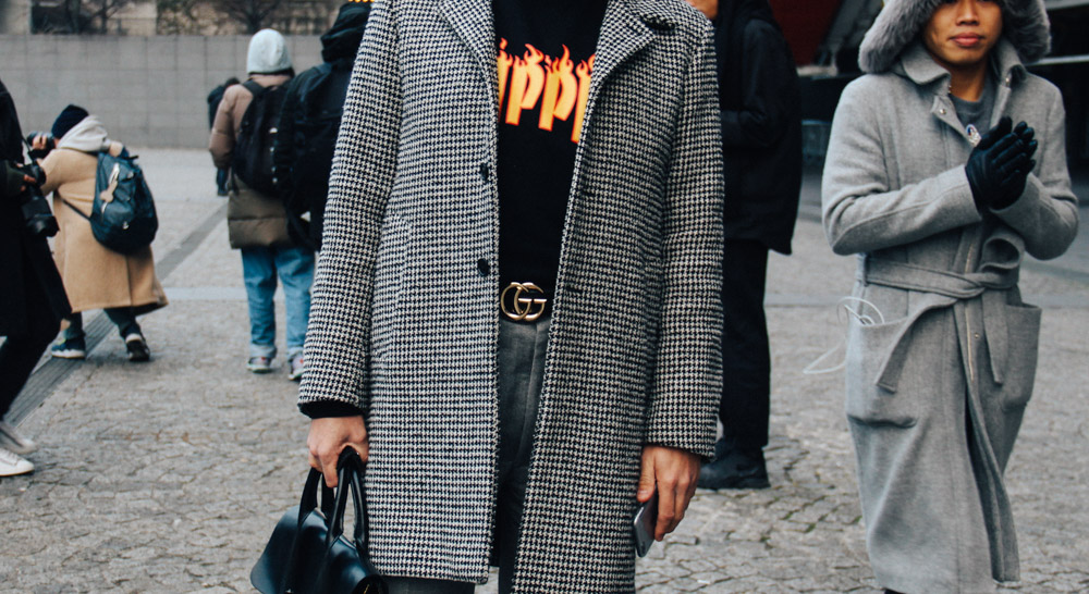 LOOK XXI: The Gucci belt ̵ Before the Vetements show at Centre Pompidou Paris