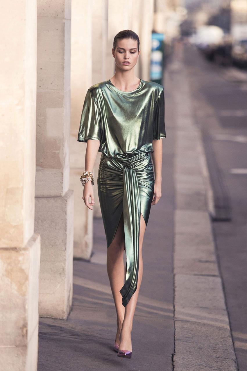 Alexandre Vauthier ss18 ready-to-wear lookbook featuring Luna Bijl