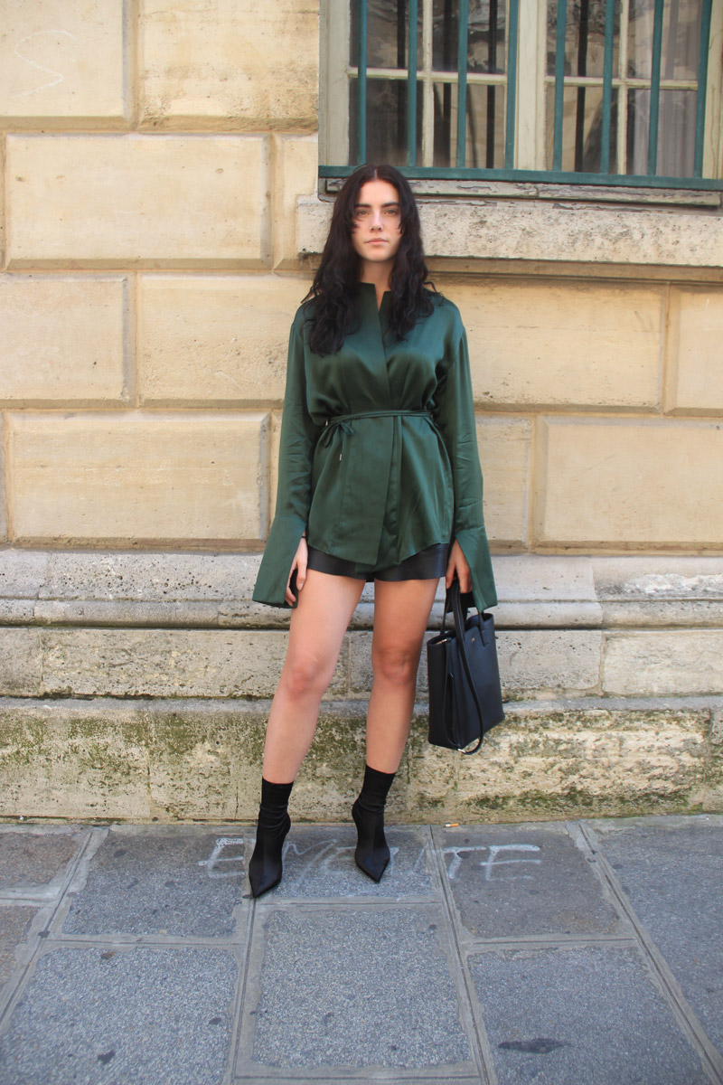 LOOK LI: How to wear leather shorts - Nichhia Wippell