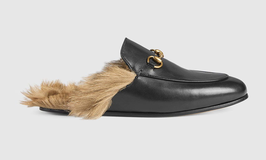 Gucci's fur-lined loafers